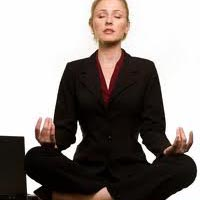 Female Executive Meditating